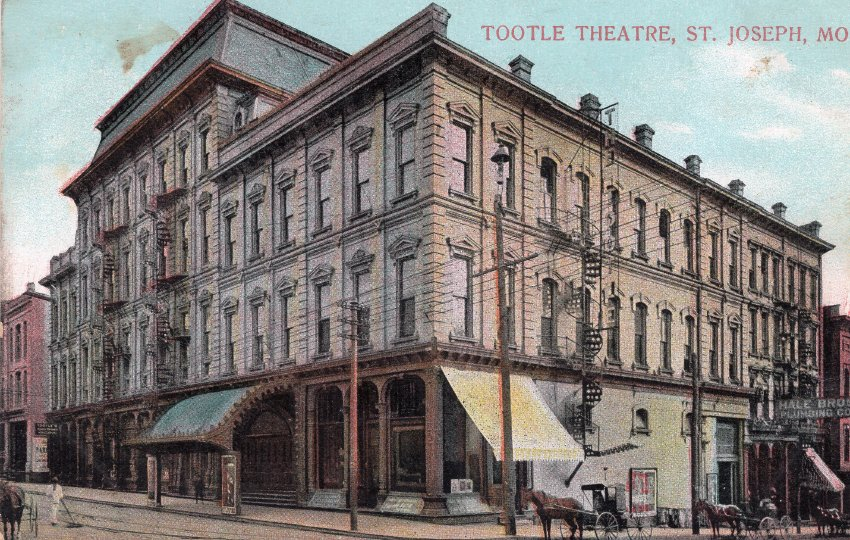 Postcard of the Tootle Opera House.