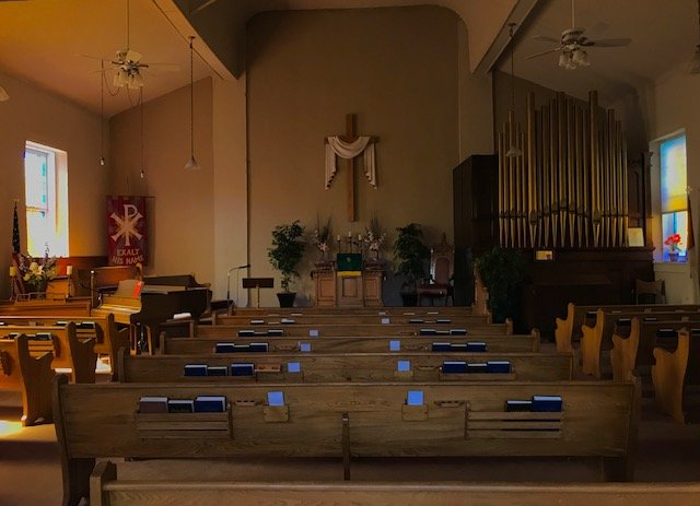The church sanctuary. 