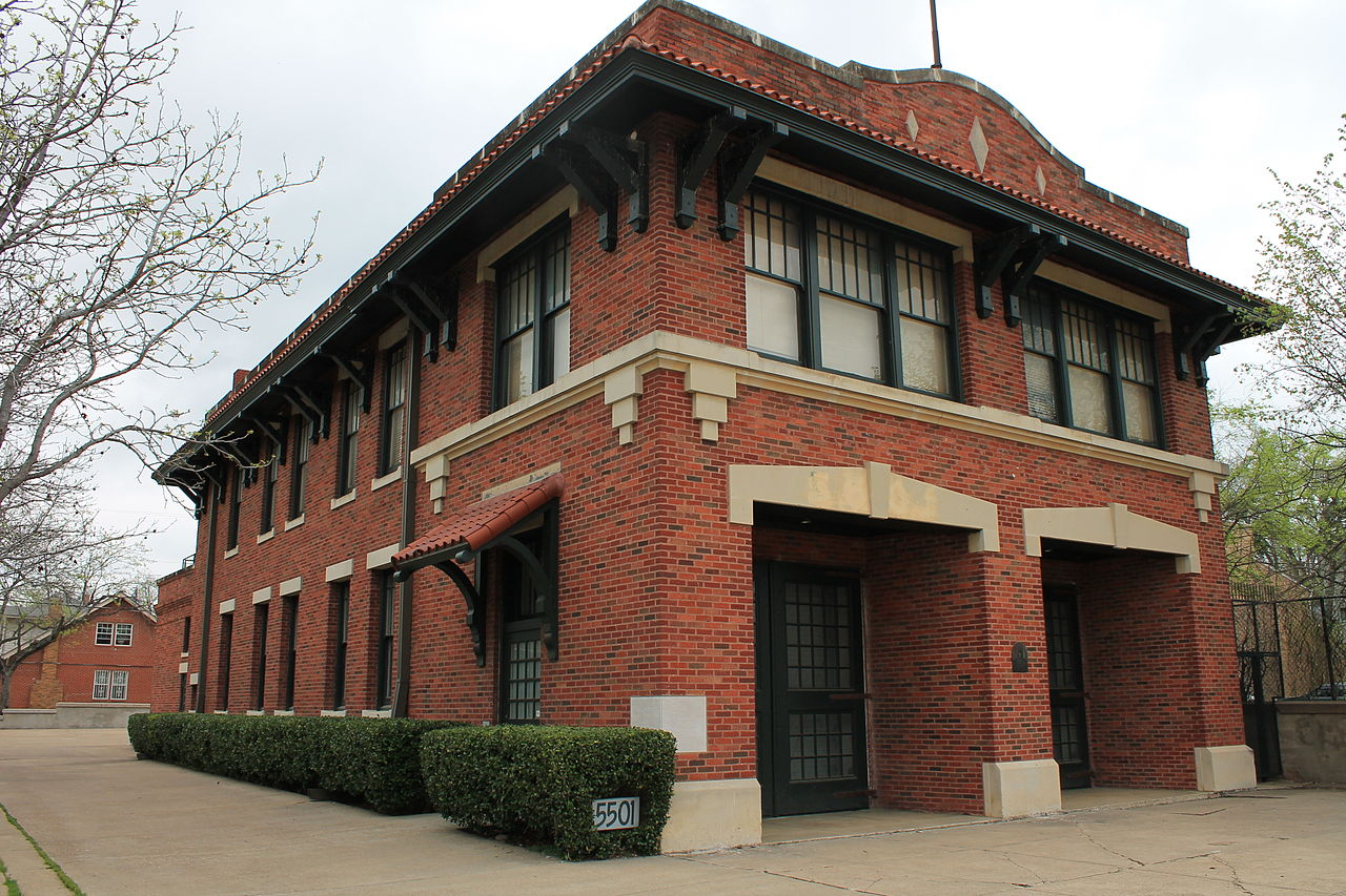 The former Dallas Fire Station #16 is now the location of Decorative Arts, a local organization dedicated to promoting the arts in the community.