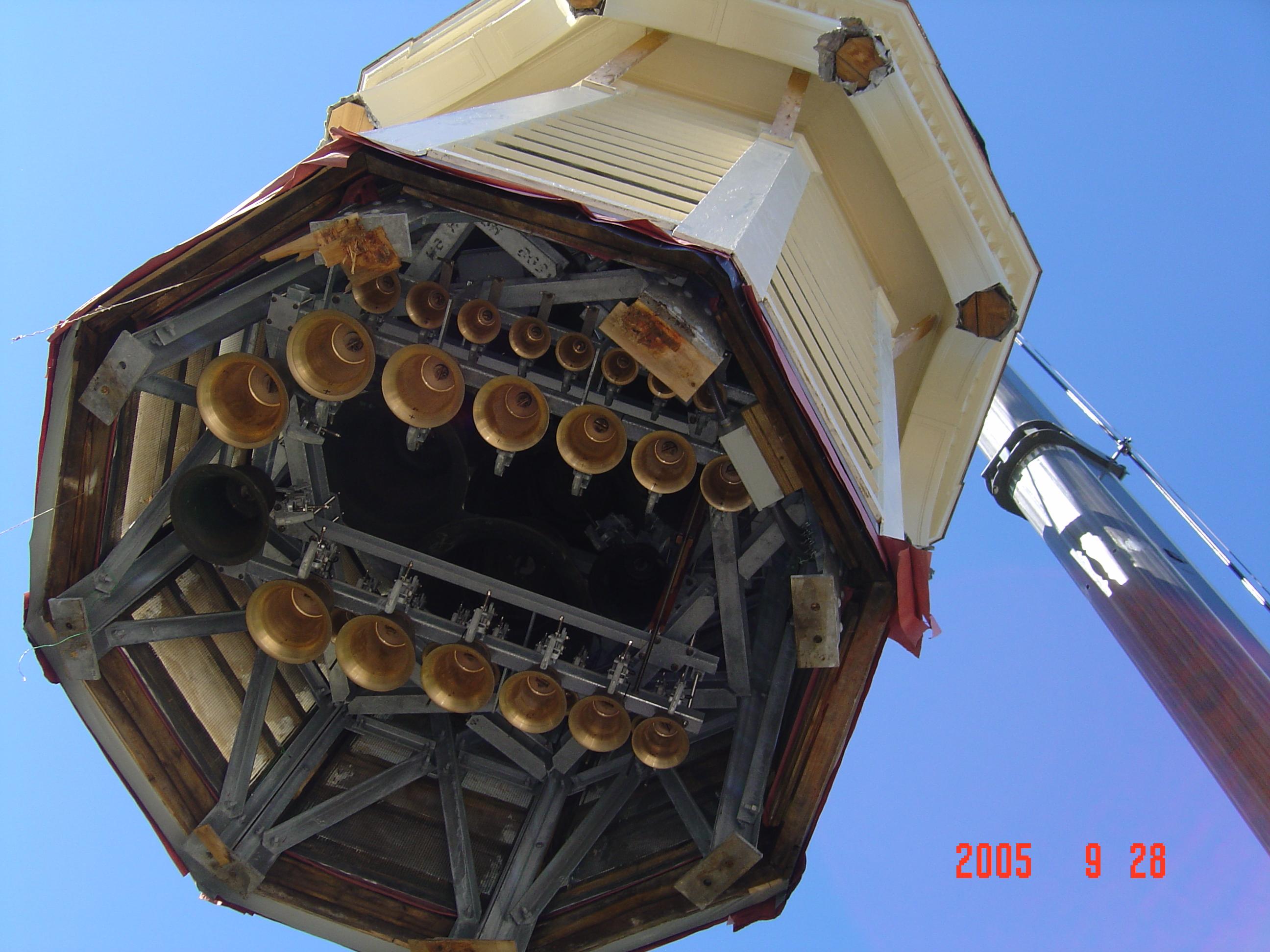 Memorial Bell Tower renovation, 2005