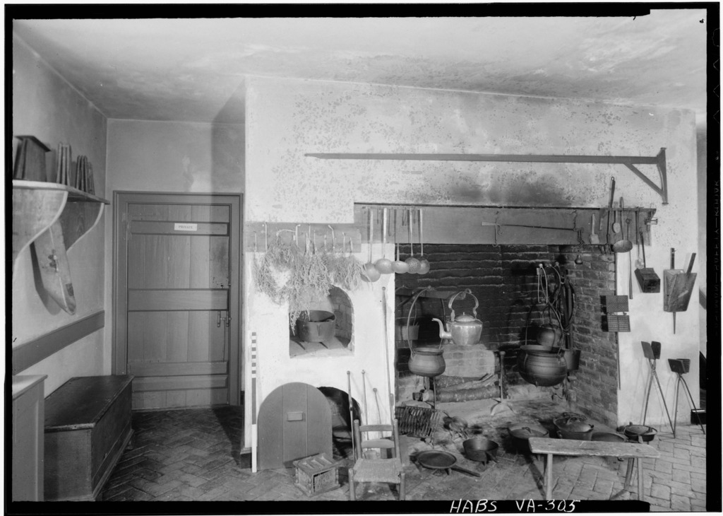 The interior of Kenmore's kitchen/north dependency