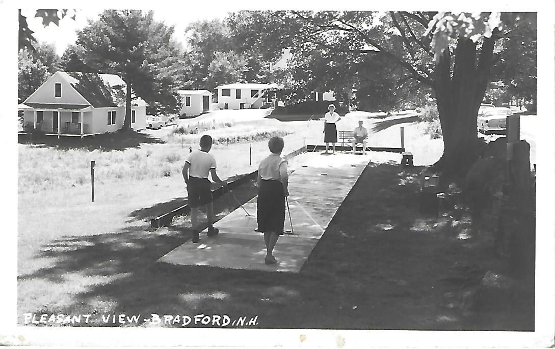 Shuffleboard at Pleasant View - postcard. There are remnants of that shuffleboard still on that location.