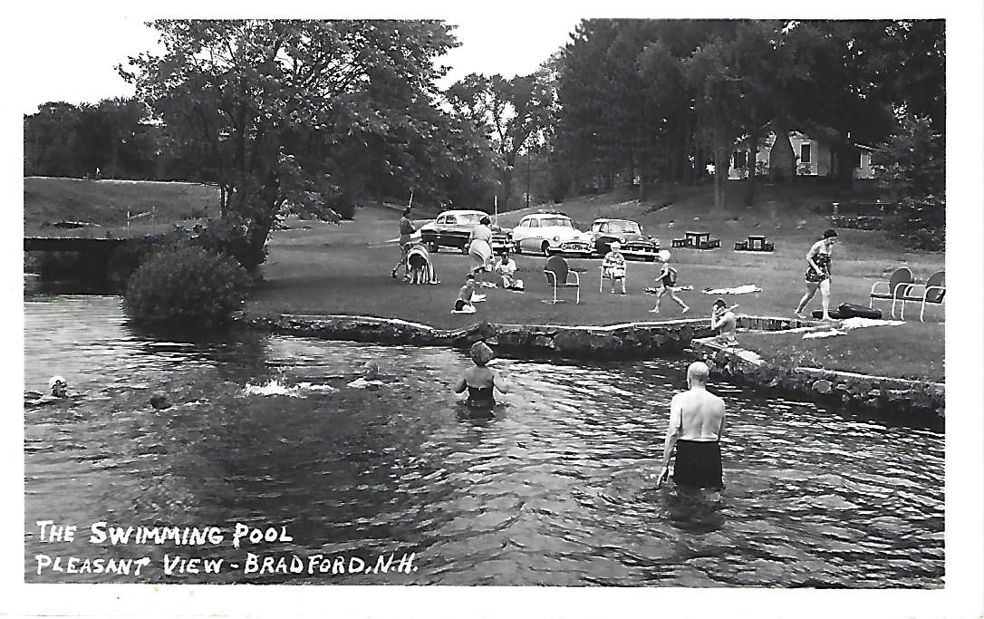 Pleasant View had a pool - postcard. The pool is still there although it is now private property.
