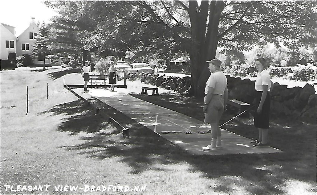 Another view from the Shuffleboard - postcard.