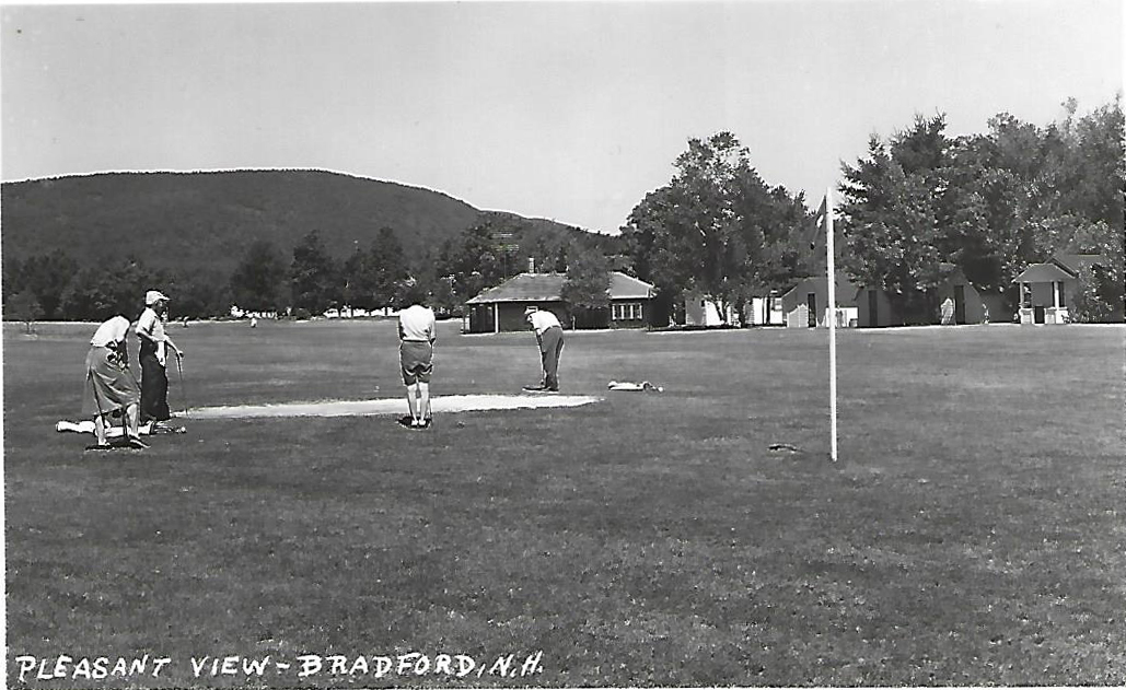 The 9-hole golf course at Pleasant View. Charlie Chaplin was seen playing here - postcard.