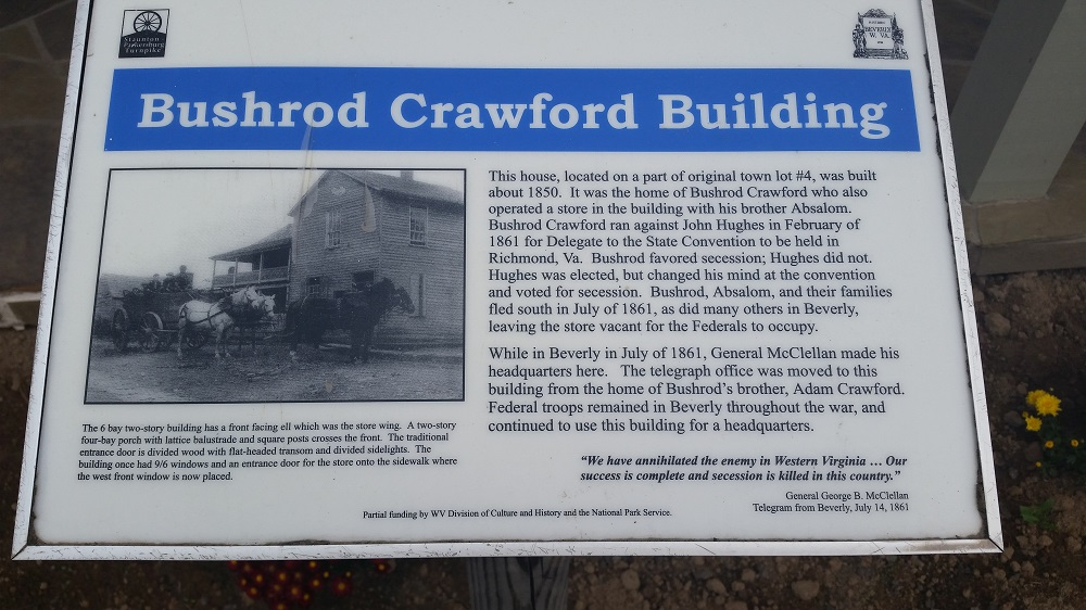 Brushrod Crawford Building Marker