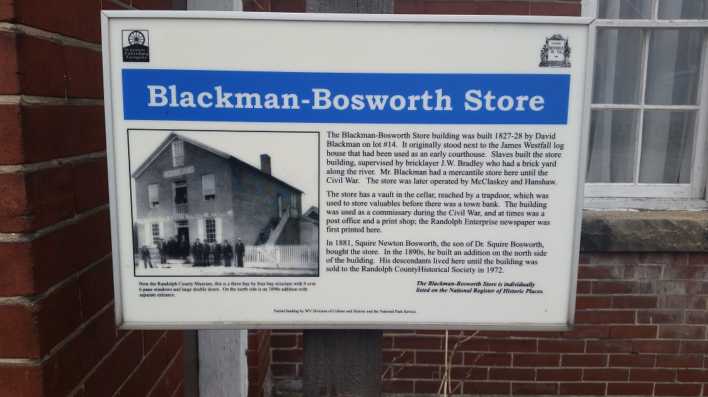 Blackman-Boswrth Store Marker