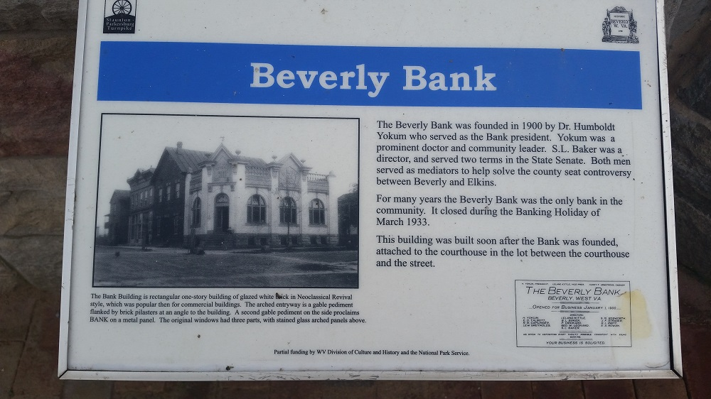 Beverly Bank Marker