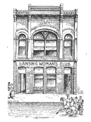 Lansing Woman's Club was established in 1874 and constructed this building as their headquarters in 1889.