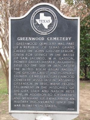 Greenwood Cemetery was originally established in 1874.