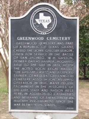 Greenwood Cemetery was originally established in 1874.