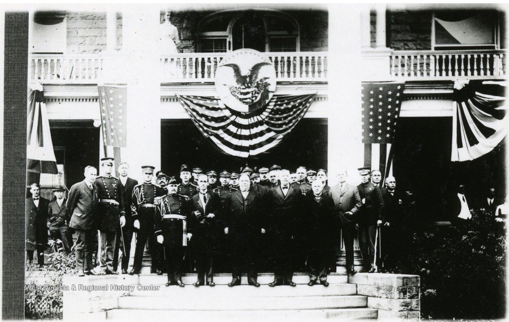 William Howard Taft at WVU President Thomas Edward Hodges' inauguration in 1911. Courtesy of the West Virginia & Regional History Center.