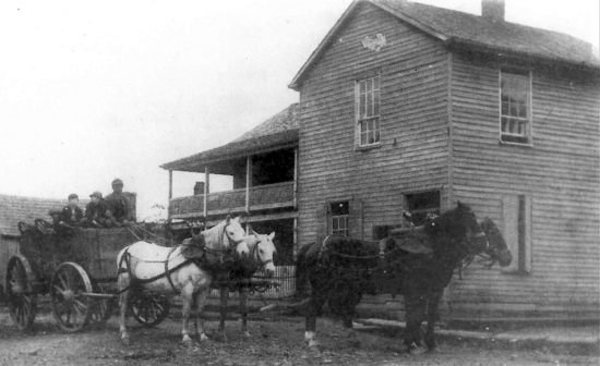 Historic photo of Bushrod Crawford House. The building was once home to the store and residence of noted area secessionist Bushrod Crawford. Courtesy of Historic Beverly Preservation, Inc.