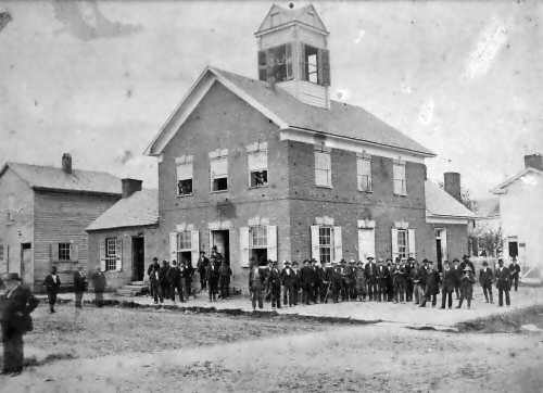 Historic photo of the Old Beverly Courthouse, in use from 1815 to 1898. Courtesy of Historic Beverly Preservation, Inc.