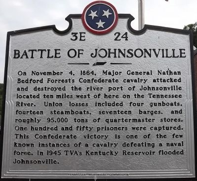 The Battle of Johnsonville Historical Marker
