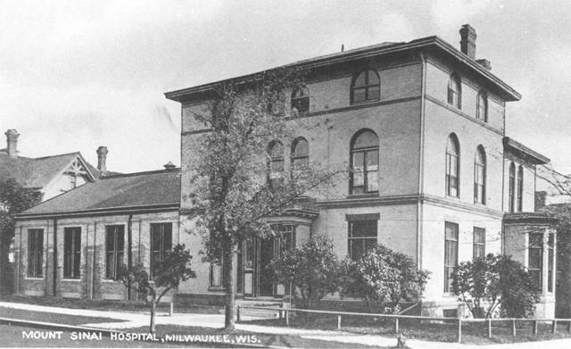 Mt. Sinai Hospital iteration, c. 1907. Photo credit: Milwaukee Public Library