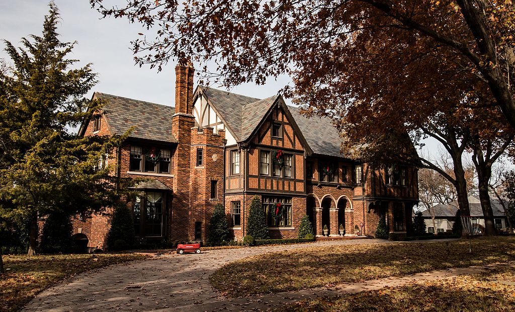 The Westbrook House was built in 1928 and is a fine example of Tudor Revival architecture.