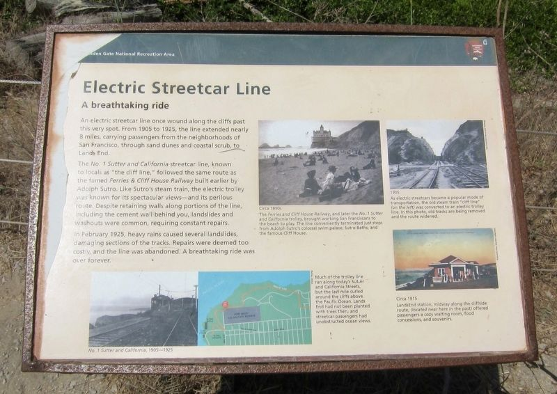 Electric Streetcar Line Historical Marker