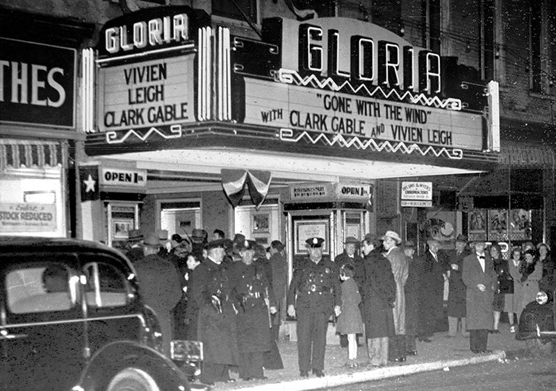 Charleston Premier of Gone With The Wind at the Gloria Theatre, (modern day Sottile Theatre.)
