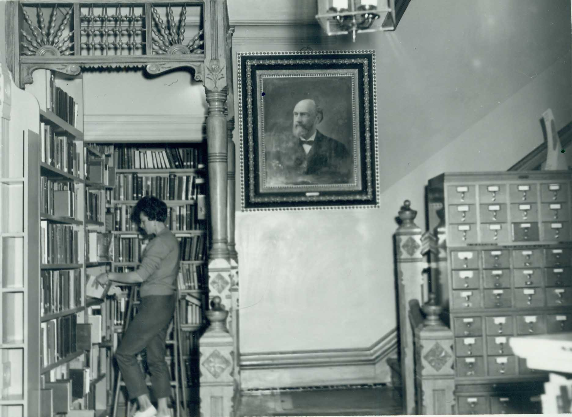 Cook Home in use as the Cook Memorial Library, 1960s
