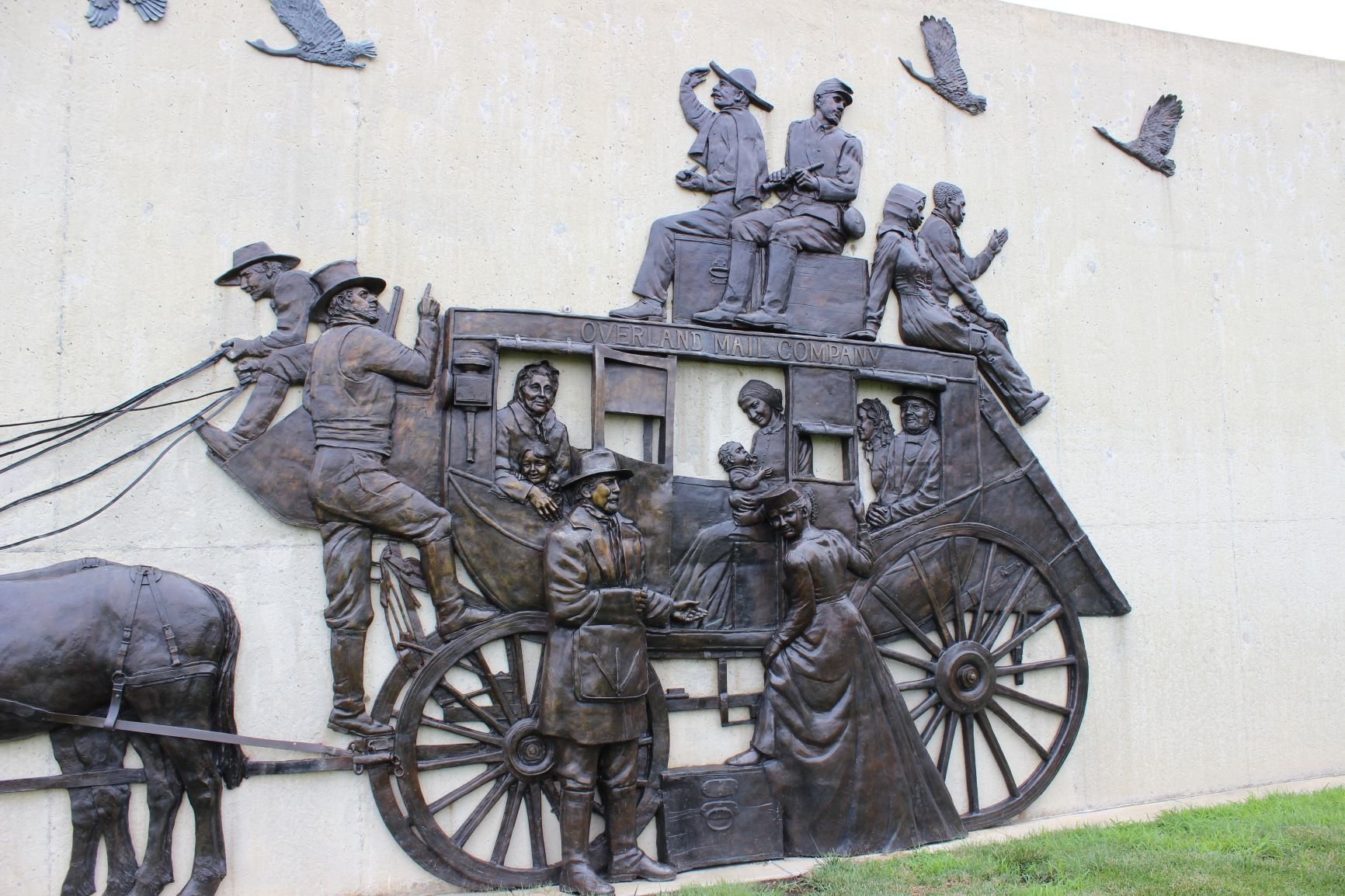 Detail of stagecoach. Photo by Cynthia Prescott.