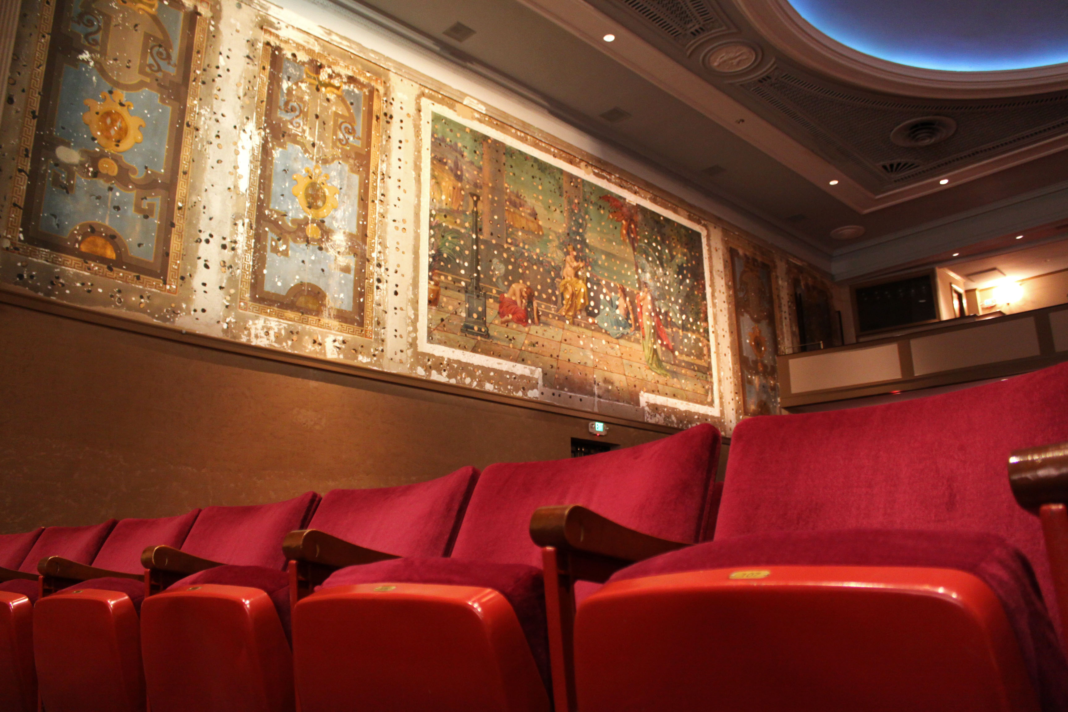 Original murals on Sottile Theatre walls.