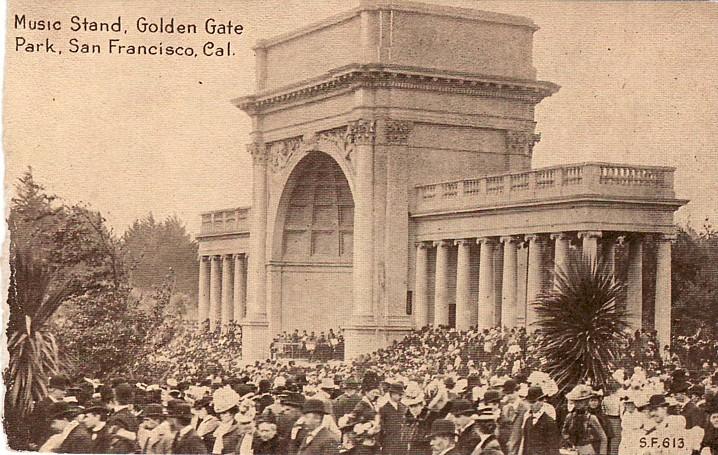 Archival Image of the Temple of Music in Golden Gate Park, c. 1900