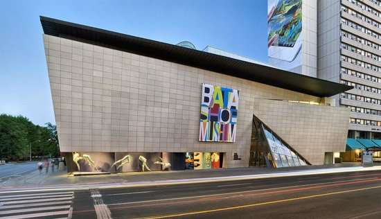 The exterior of the Bata Shoe Museum