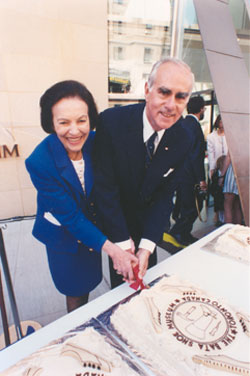Sonja Bata at the opening of the museum on May 6,1995. Image from the Bata Shoe Museum website.