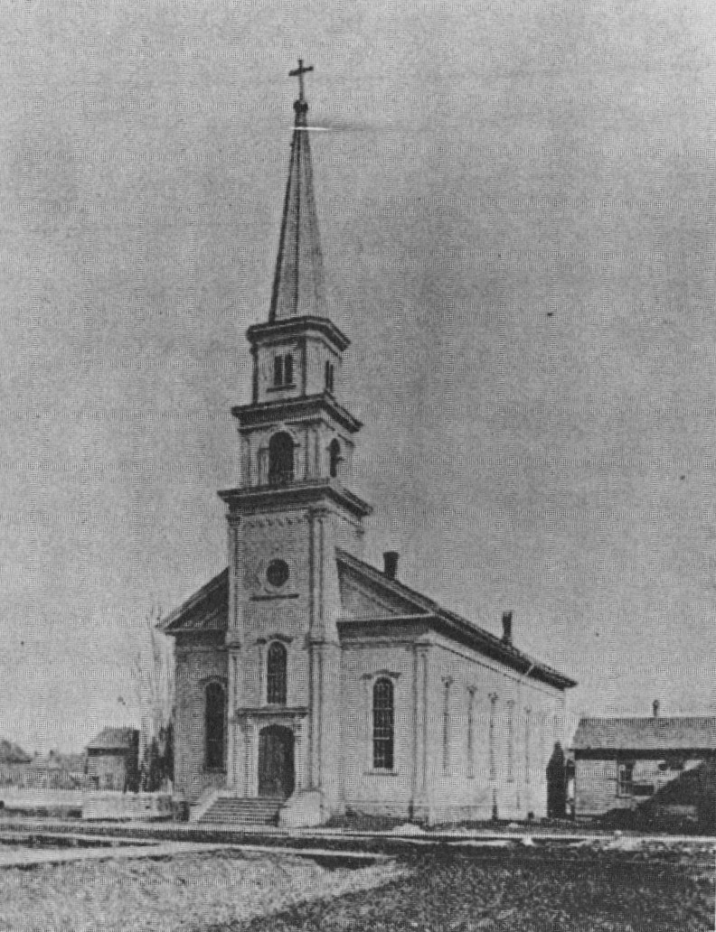 Original St. Mary's Church built in 1866.