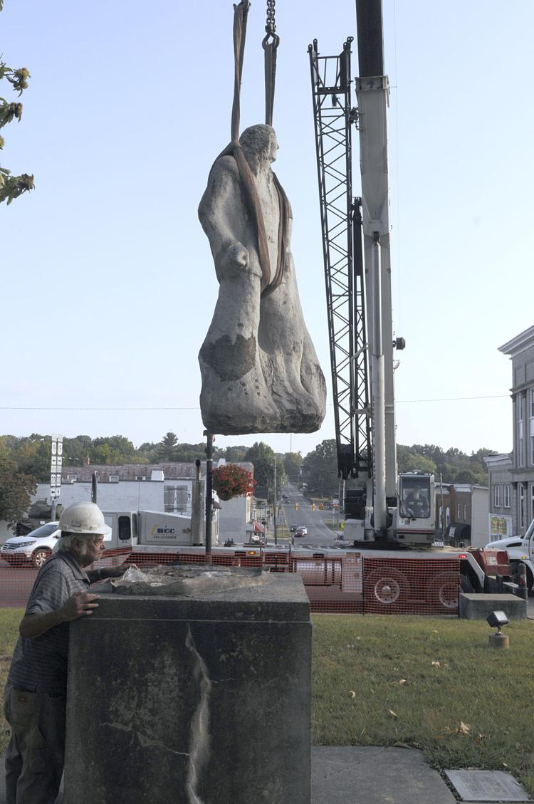 Statue Being Relocated