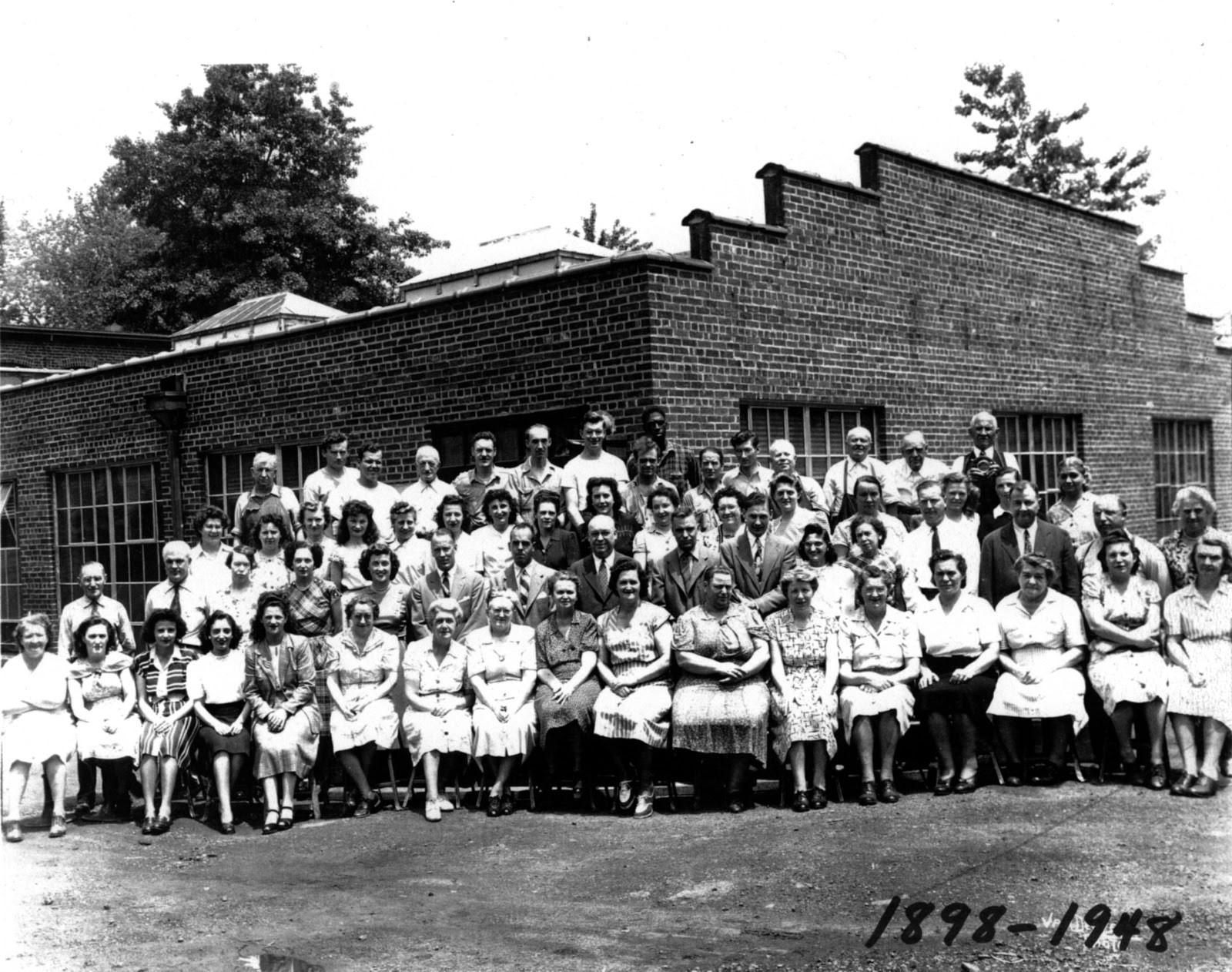 Employees of the plant in 1948