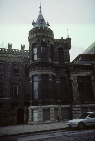 Detail of Blatz brewery, 1986. Photo credit: Wisconsin Historical Society