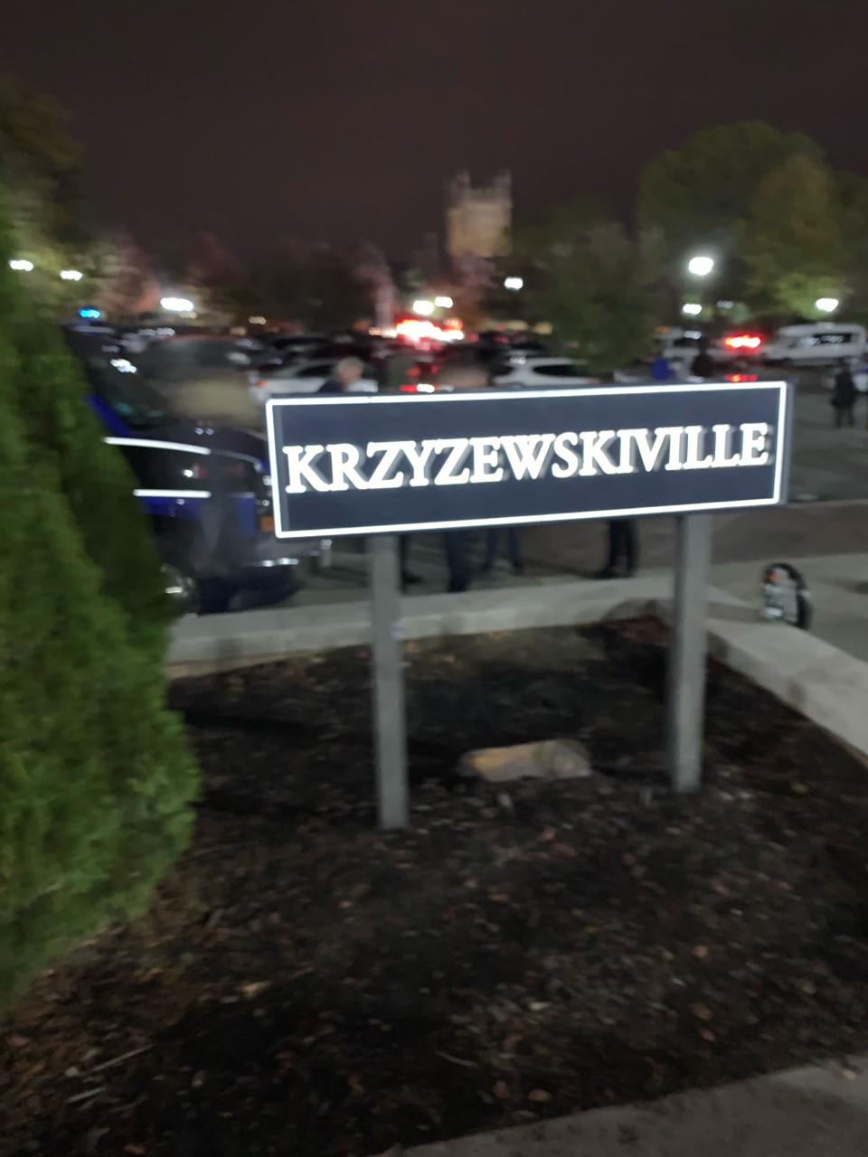 "In 2001 in honor of Coach Mike Krzyzewski, the plaza surrounding Cameron Indoor Stadium was named ""Krzyewskiville."""