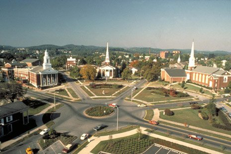 Aerial view of Church Circle, 2009