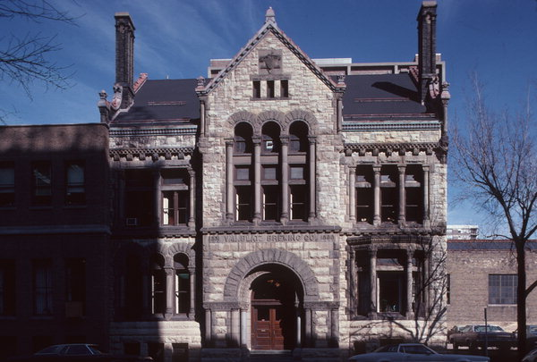 The Blatz office building in 1983, when it was named to the National Register of Historic Places. Photo credit: Wisconsin Historical Society