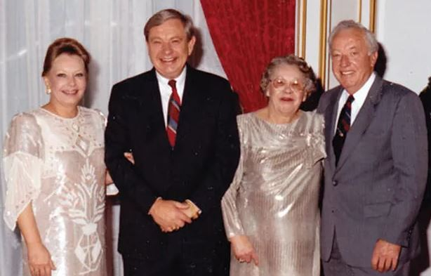 Larry Joe Harless (center) with Larry's sister and parents, June and Buck Harless
