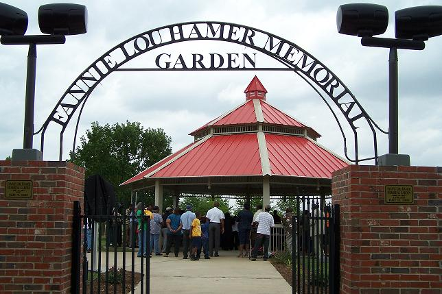 Fannie Mae Hammer Memorial Garden Entrance