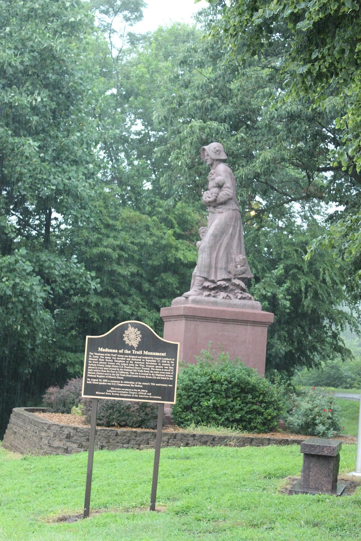 Madonna of the Trail. Photo by Cynthia Prescott.