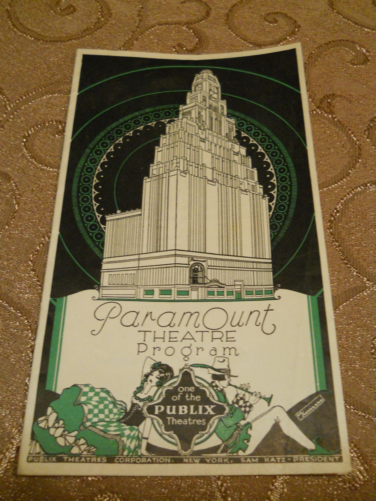Vintage Paramount Theatre Program