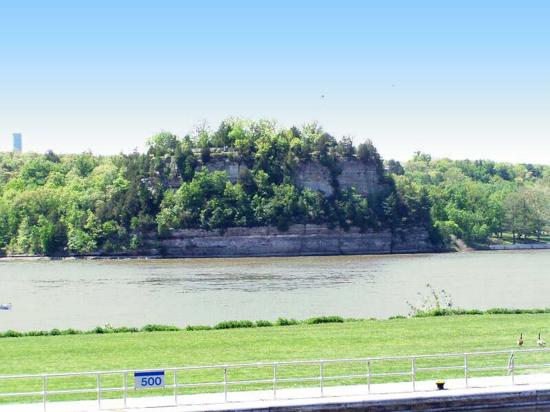 "This formation, known as ""Starved Rock,"" was designated a National Historic Landmark in 1960."