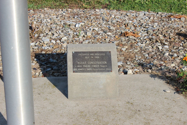 Conservation plaque. Photo by Cynthia Prescott.
