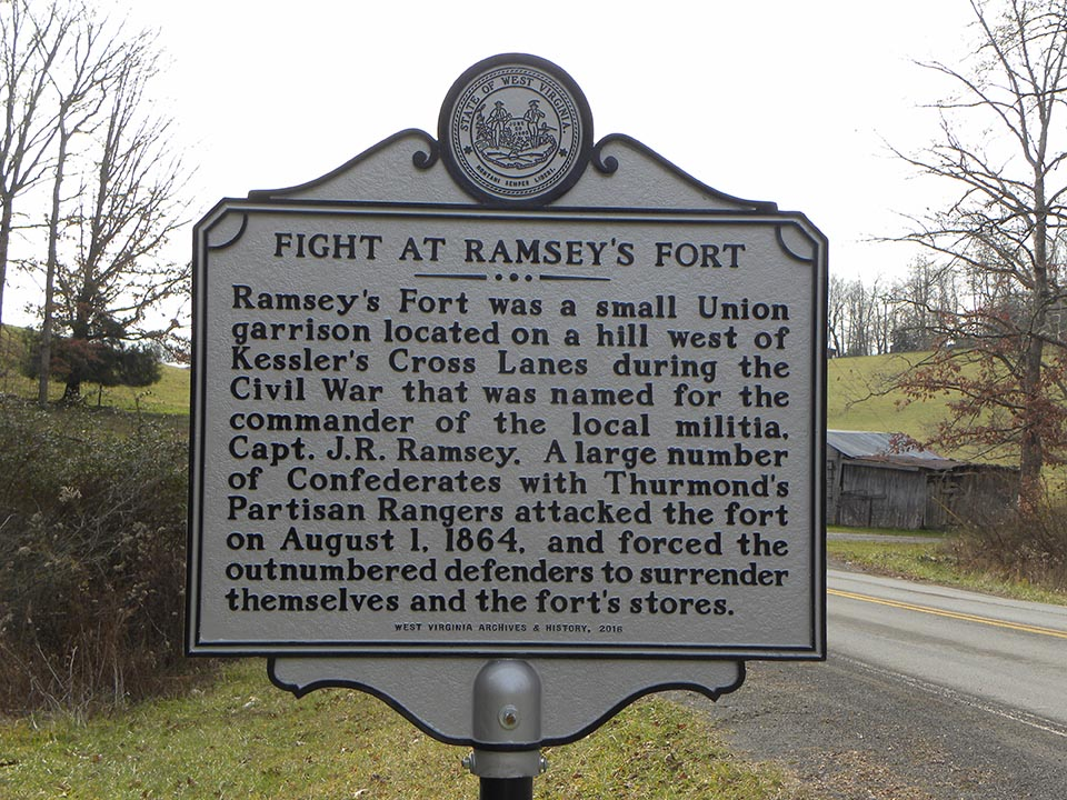 Fight at Ramsey's Fort Historical Marker