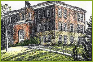 This is a sketch of the main school building.