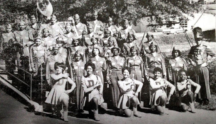 Douglass High marching band yearbook photos