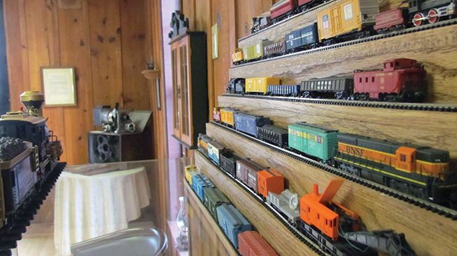 One of the museum's model train displays.