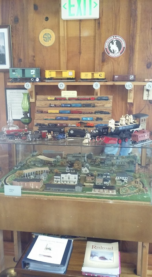 One of the museum's railroad displays.