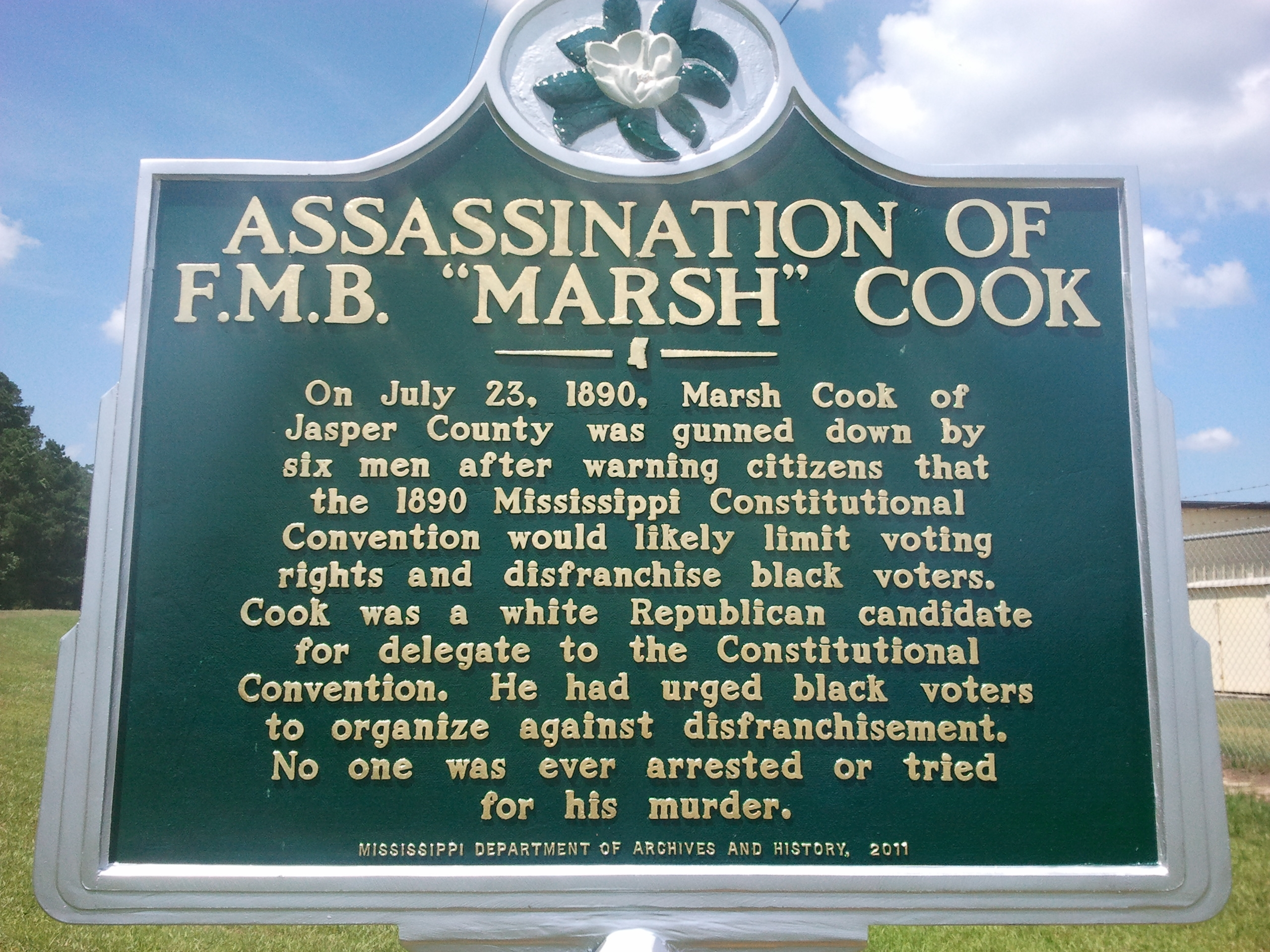 Marker of Marsh Crook
