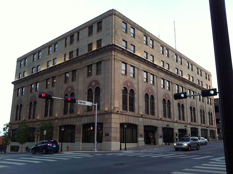 Built in 1906, the old Elks Lodge Building was initially supposed to be twelve stories tall, but financial difficulties forced the Elks to stop at five. It is now the location of the Oklahoma Natural Gas Company.