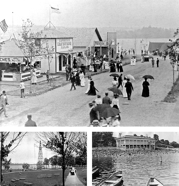 Pictures of Conneaut Lake Park when it first opened (n.d.).